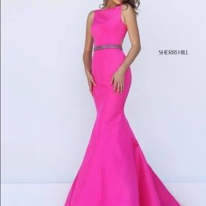 Pink Sherri Hill Size 4 taken to size 6